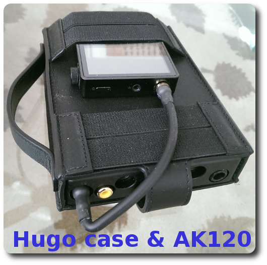 Hugo in case with AK120