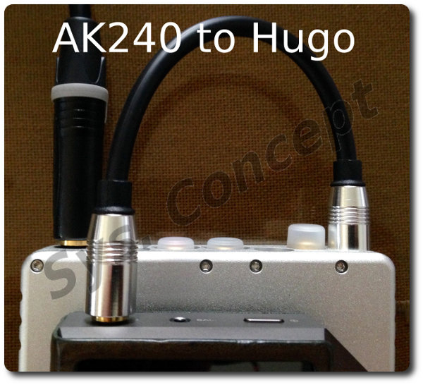 Hugo to AK240 7.5in long Tosink to MiniPlug Cable