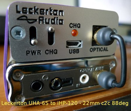Leckerton UHA-6s to iHP120