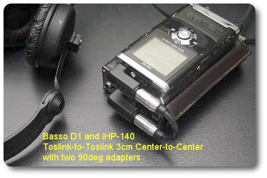Short Toslink with iBasso D1 and iHP-140