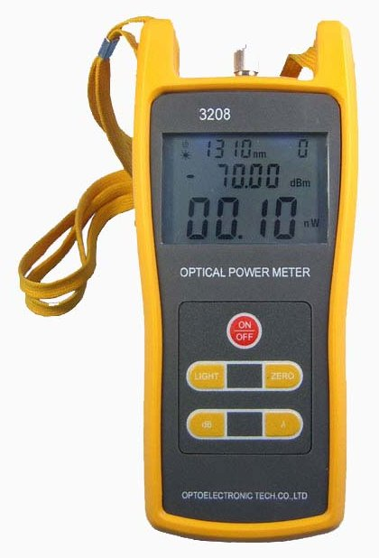 Traditional Power Meter : Fiber optic optical power meter light source